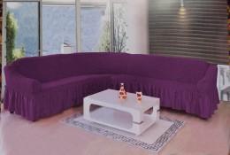 Чехол для углового дивана DO&CO фиолетовый