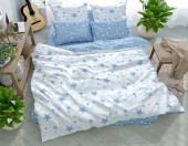 Постельное белье Svit New Line бязь ГОСТ 1,5-спальное 70х70 см арт.Звездопад голубой
