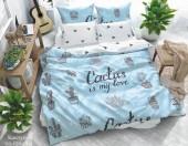 Постельное белье Svit New Line бязь ГОСТ 1,5-спальное 70х70 см арт.022-2 Кактусы голубой