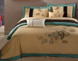 Постельное белье Вальтери сатин с вышивкой (100-60) 2 спальное