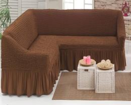 Чехол для 3-местного дивана  Karteks коричневый