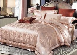 Постельное белье Valtery жаккард с вышивкой 2-спальное 4 наволочки арт. 220-122