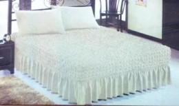 Чехол-покрывало для кровати Karbeltex 160х200 + 50х70 (2) молоко