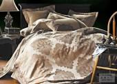 Постельное белье Valtery шелковый жаккард с вышивкой 2-спальное 4 наволочки арт. L-23