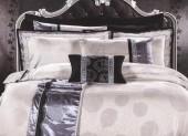 Постельное белье Valtery шелковый жаккард с вышивкой евро 4 наволочки арт. L-30