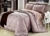 Постельное белье Valtery шелковый жаккард с вышивкой 2-спальное 4 наволочки арт. L-32