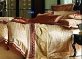 Постельное белье Valtery шелковый жаккард с вышивкой евро 4 наволочки арт. L-26