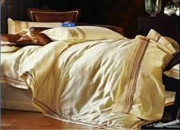 Постельное белье Valtery шелковый жаккард с вышивкой евро 4 наволочки арт. L-24