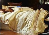 Постельное белье Valtery шелковый жаккард с вышивкой 2-спальное 4 наволочки арт. L-24