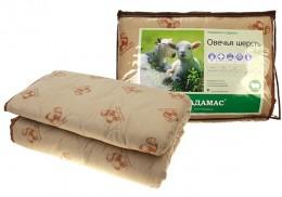 Одеяло Адамас Овечья шерсть, п/э 1,5-спальное 140х205 см