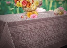 Скатерть Домомания хлопок пыльная роза 145х220 см