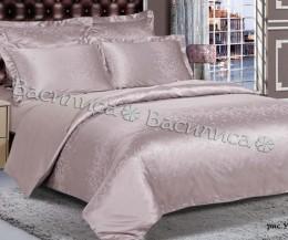 Постельное белье Василиса сатин-жаккард Бамбук 2-спальное 4 наволочки арт. 3-16 Утренняя роза
