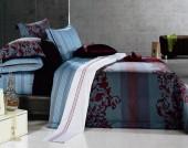 Постельное белье Famille Шелковый сатин арт. SDS-33 2-спальное 4 наволочки