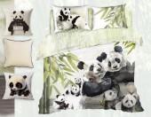 Постельное белье Mona Liza Premium Family сатин цифр. печать евро 4 наволочки арт.Pandas 5861/3