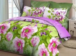 Постельное белье Орхидея арт. 4015-2 бязь 2-спальное макси 70х70 см