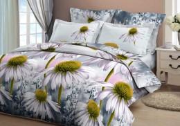 Постельное белье Орхидея арт. 4122-1 бязь 2-спальное макси 70х70 см