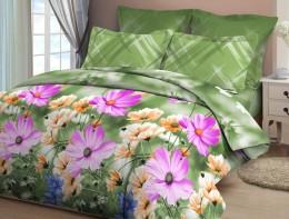 Постельное белье Орхидея арт. 4169-1 бязь 2-спальное макси 70х70 см
