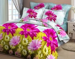 Постельное белье Орхидея арт. 4209-2 бязь 2-спальное макси 70х70 см