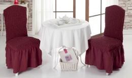 Чехлы для стульев 2 шт Karna бордо