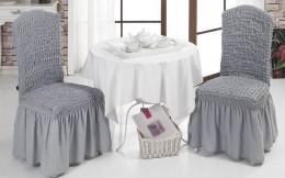 Чехлы для стульев Karbeltex (2 шт) серый