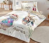 Постельное белье Mona Liza SL Kids I CUTE сатин цифровая печать 1,5-спальный 50х70 см (1) арт.5756/5 Зайки