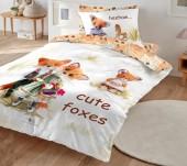 Постельное белье Mona Liza SL Kids I CUTE сатин цифровая печать 1,5-спальный 50х70 см (1) арт.5756/6 Лисички