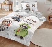 Постельное белье Mona Liza SL Kids I CUTE сатин цифровая печать 1,5-спальный 50х70 см (1) арт.5756/8 Еноты