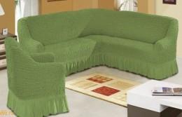 Чехол для дивана-мини 1,5 м Karbeltex зеленый