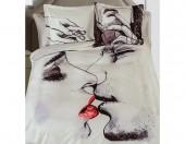 Постельное белье Mona Liza SL Sketch Art сатин панно 2-спальный 4 наволочки арт.Two