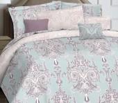Постельное белье Mona Liza Marquise Premium сатин дуэт 4 наволочки арт.5044/0052 Louise blue