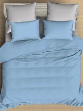 Постельное белье Amore Mio сатин однотонный 2-спальное макси на резинке 70х70 см арт. BZ QR Alaska