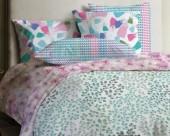 Постельное белье Mona Liza Lagoon ранфорс 2-спальный 70х70 арт.Azure