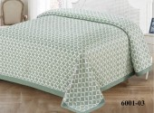 Покрывало С-Текстиль BRAVO жаккард, хлопок 230х260 см зеленый арт. 6001-03