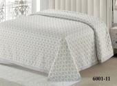 Покрывало С-Текстиль BRAVO жаккард, хлопок 230х260 см серый арт. 6001-11
