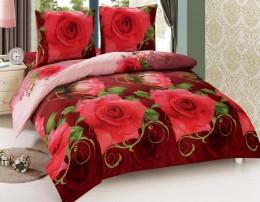 Постельное белье Amore Mio макосатин 1,5-спальное 70х70 см арт.BZ Roza
