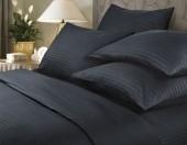 Постельное белье Веросса страйп-сатин Роял Black 1,5-спальное 50х70 см