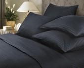 Постельное белье Веросса страйп-сатин Роял Black  2-спальное 70х70 см