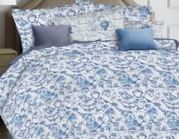 КПБ Mona Liza Ceramica Premium сатин евро 50х70 арт.52060 Blue