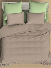 Постельное белье Amore Mio сатин однотонный 2-спальное макси на резинке 70х70 см арт. BZ QR Bounty