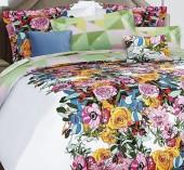 Постельное белье Mona Liza Premium сатин 2-спальный 4 наволочки арт.Camellia