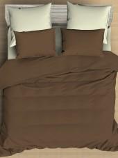 Постельное белье Amore Mio сатин однотонный 2-спальное макси на резинке 70х70 см арт. BZ QR Caribou