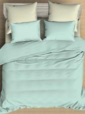 Постельное белье Amore Mio сатин однотонный 2-спальное макси на резинке 70х70 см арт. BZ QR Cascade