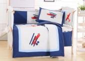 Детское постельное белье Valtery (комплект с бортиком) для новорожденных арт. DK-08