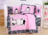 Детское постельное белье Valtery (комплект с бортиком) для новорожденных арт. DK-10