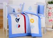 Детское постельное белье Valtery (комплект с бортиком) для новорожденных арт. DK-13