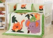 Детское постельное белье Valtery (комплект с бортиком) для новорожденных арт. DK-19