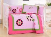 Детское постельное белье Valtery (комплект с бортиком) для новорожденных арт. DK-21
