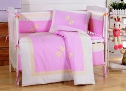 Детское постельное белье Valtery (комплект с бортиком) для новорожденных арт. DK-23