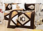 Детское постельное белье Valtery (комплект с бортиком) для новорожденных арт. DK-24