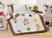 Детское постельное белье Valtery (комплект с бортиком) для новорожденных арт. DK-26